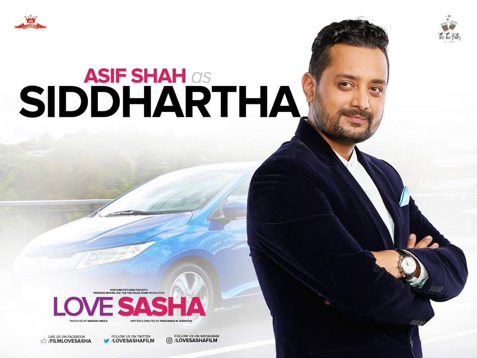 Asif Shah as Siddhartha in Love Sasha Movie