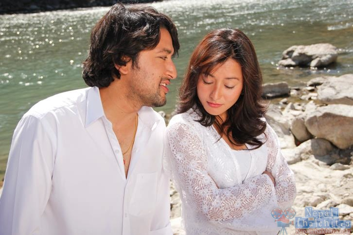 Namrata Shrestha and Raymon das shrestha in Megha Movie