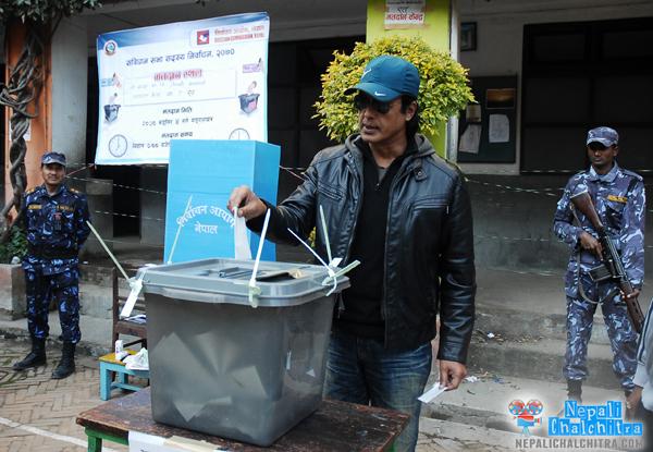 Rajesh Hamal, Keki Adhikari and other celebs Vote today ...