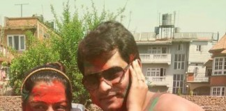 Rekha Thapa at Chabbi Ojha Holi 2013 2