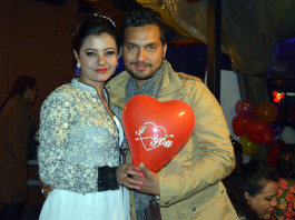 Sushma Karki 2015 Birthday with Pramod